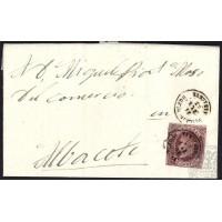 ALBACETE. 1863. ESPAÑA. SPAIN. VILLARROBLEDO A ALBACETE.
