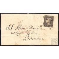 ALBACETE. 1850. ESPAÑA. SPAIN. ALBACETE A BARCELONA.