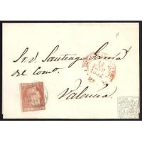 ALBACETE. 1852. ESPAÑA. SPAIN. ALBACETE A VALENCIA.