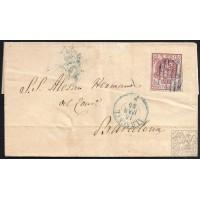 ALBACETE. 1855. ESPAÑA. SPAIN. ALBACETE A BARCELONA.