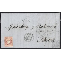 ALBACETE. 1858. ESPAÑA. SPAIN. HELLIN A ALBACETE.