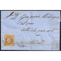 ALBACETE. 1861. ESPAÑA. SPAIN. ALMANSA A MADRID.