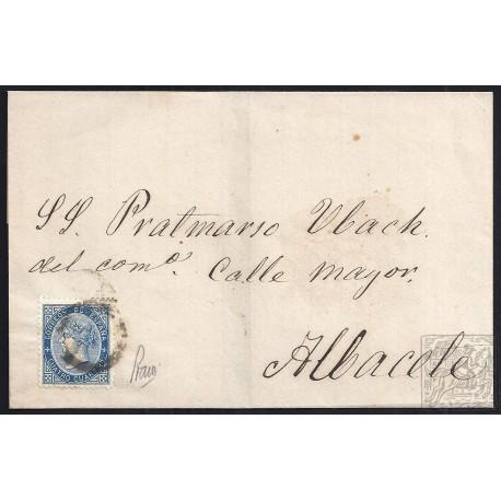 ALBACETE. 1867. ESPAÑA. SPAIN. 4 CUARTOS. ED. 88. ONTUR A ALBACETE.