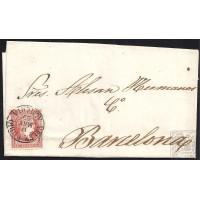 ALMERIA. 1859. ESPAÑA. SPAIN. 4 CUARTOS. ED. 48. VELEZ-RUBIO A BARCELONA.