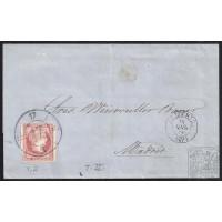 ALMERIA. 1859. ESPAÑA. SPAIN. 4 CUARTOS. ED. 48. ALMERIA A MADRID.