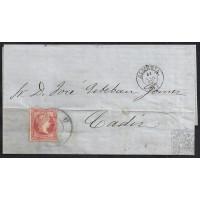 ALMERIA. 1859. ESPAÑA. SPAIN. 4 CUARTOS. ED. 48. ALMERIA A CADIZ.