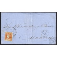 ALMERIA. 1860. ESPAÑA. SPAIN. 4 CUARTOS. ED. 52. ALMERIA A MADRID.