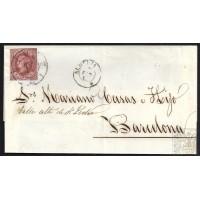 ALMERIA. 1862. ESPAÑA. SPAIN. 4 CUARTOS. ED. 58. ALMERIA A BARCELONA.