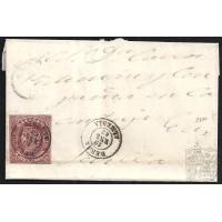 ALICANTE. 1863. ESPAÑA. SPAIN. 4 CUARTOS. ED. 58. BERJA A SEVILLA.