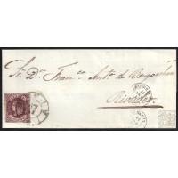 ALMERIA. 1863. ESPAÑA. SPAIN. 4 CUARTOS. ED. 58. ALMERIA A RIVADEO.