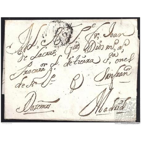 1734. ESPAÑA. SPAIN. VALLADOLID A MADRID.