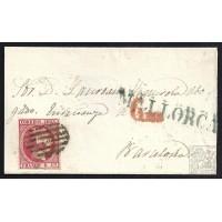 BALEARES. 1853. ESPAÑA. SPAIN. 6 CUARTOS. ED. 17. BARCELONA.
