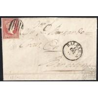 BALEARES. 1857. ESPAÑA. SPAIN. 4 CUARTOS. ED. 48. PALMA DE MALLORCA A BARCELONA.