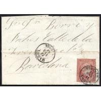 BALEARES. 1859. ESPAÑA. SPAIN. 4 CUARTOS. ED. 48. MAHON A BARCELONA.