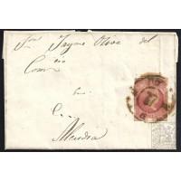 BALEARES. 1859. ESPAÑA. SPAIN. 4 CUARTOS. ED. 48. BARCELONA A ALCUDIA.