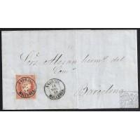BALEARES. 1859. ESPAÑA. SPAIN. 4 CUARTOS. ED. 48. ANDRAIS A BARCELONA.