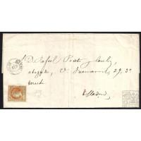 BALEARES. 1861. ESPAÑA. SPAIN. 4 CUARTOS. ED. 52. MAHON A MADRID.