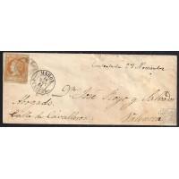 BALEARES. 1861. ESPAÑA. SPAIN. 4 CUARTOS. ED. 52. MAHON A VALENCIA.
