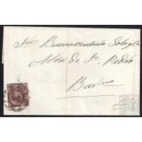 BALEARES. 1863. ESPAÑA. SPAIN. 4 CUARTOS. ED. 58. PALMA DE MALLORCA A BARCELONA.