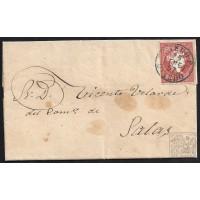 ASTURIAS. 1857. ESPAÑA. SPAIN. 4 CUARTOS. ED. 48. POLA DE SIERO A SALAS.