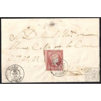 ASTURIAS. 1859. ESPAÑA. SPAIN. 4 CUARTOS. ED. 48A. TINEO A MADRID.