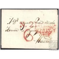 1837. ESPAÑA. SPAIN. VALLADOLID A MADRID.