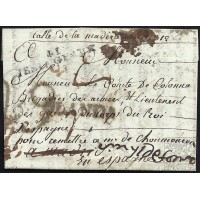 CORREO PROCEDENTE DEL EXTRANJERO. INCOMING MAIL. 1806. ESPAÑA. SPAIN. FRANCIA. FRANCE. LONGEAUX A MADRID.