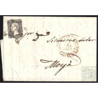 BARCELONA. 1850. ESPAÑA. SPAIN. 6 CUARTOS. ED. 1A. BARCELONA A MOYA.
