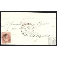BARCELONA. 1852. ESPAÑA. SPAIN. 6 CUARTOS. ED. 12. BARCELONA A LLEIDA.