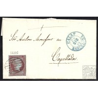 BARCELONA. 1855. ESPAÑA. SPAIN. 4 CUARTOS. ED. 40. CALAF A CAPELLADES.