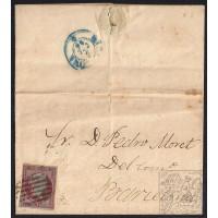 BARCELONA. 1856. ESPAÑA. SPAIN. 4 CUARTOS. ED. 40. ARENYS DE MAR A BARCELONA.