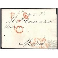 1829. ESPAÑA. SPAIN. VALLADOLID A MADRID.
