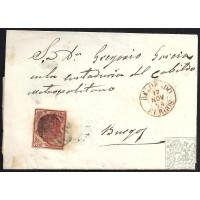 BURGOS. 1854. ESPAÑA. SPAIN. 4 CUARTOS. ED. 33. BELORADO A BURGOS.