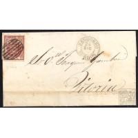 BURGOS. 1854. ESPAÑA. SPAIN. 4 CUARTOS. ED. 33. PANCORBO A VITORIA.