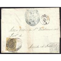 BURGOS. 1864. ESPAÑA. SPAIN. MEDIA ONZA. ED. 36. BURGOS A ARANDA DE DUERO.