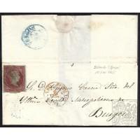 BURGOS. 1855. ESPAÑA. SPAIN. 4 CUARTOS. ED. 40. BELORADO A BURGOS.