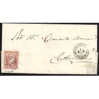 BURGOS. 1859. ESPAÑA. SPAIN. 4 CUARTOS. ED. 48. QUINTANAR DE LA SIERRA A COVARRUBIAS.