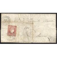 BURGOS. 1859. ESPAÑA. SPAIN. 4 CUARTOS. ED. 48. SALAS DE LOS INFANTES A COVARRUBIAS.