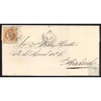 BURGOS. 1860. ESPAÑA. SPAIN. 4 CUARTOS. ED. 52. MEDINA DE POMAR A MADRID.