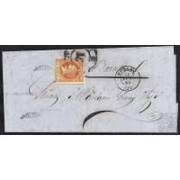 BURGOS. 1860. ESPAÑA. SPAIN. 4 CUARTOS. ED. 52. BURGOS A BARCELONA.