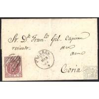 CACERES. 1855. ESPAÑA. SPAIN. 4 CUARTOS. ED. 33. CACERES A CORIA.