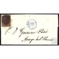 CACERES. 1856. ESPAÑA. SPAIN. 4 CUARTOS. ED. 40. CACERES A ARROYO DEL PUERCO.