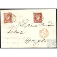 CACERES. 1856. ESPAÑA. SPAIN. 4 CUARTOS. ED. 44. MIAJADAS A TRUJILLO.
