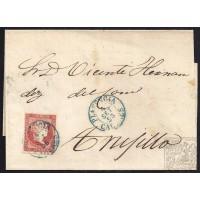 CACERES. 1856. ESPAÑA. SPAIN. 4 CUARTOS. ED. 44. PLASENCIA A TRUJILLO.