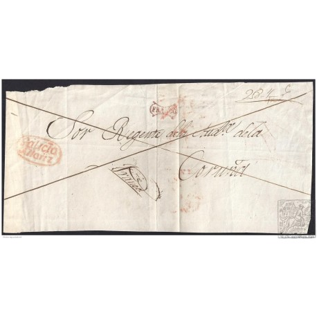 S/F. CIRCA 1845. ESPAÑA. SPAIN. ALLARIZ A CORUÑA.