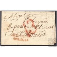 1837. ESPAÑA. SPAIN. CORCUBION A ALMERIA.