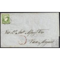 CANARIAS. 1857. ESPAÑA. SPAIN. 2 CUARTOS. ED. 47. SANTA CRUZ A SAN MIGUEL.