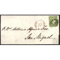 CANARIAS. 1858. ESPAÑA. SPAIN. 2 CUARTOS. ED. 47. SANTA CRUZ A SAN MIGUEL.