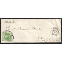 CANARIAS. 1860. ESPAÑA. SPAIN. 2 CUARTOS. ED. 51. SANTA CRUZ DE TENERIFE A PUERTO DE LA OROTAVA.