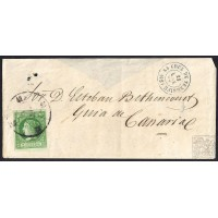 CANARIAS. 1862. ESPAÑA. SPAIN. 2 CUARTOS. ED. 51. SANTA CRUZ DE TENERIFE A ...